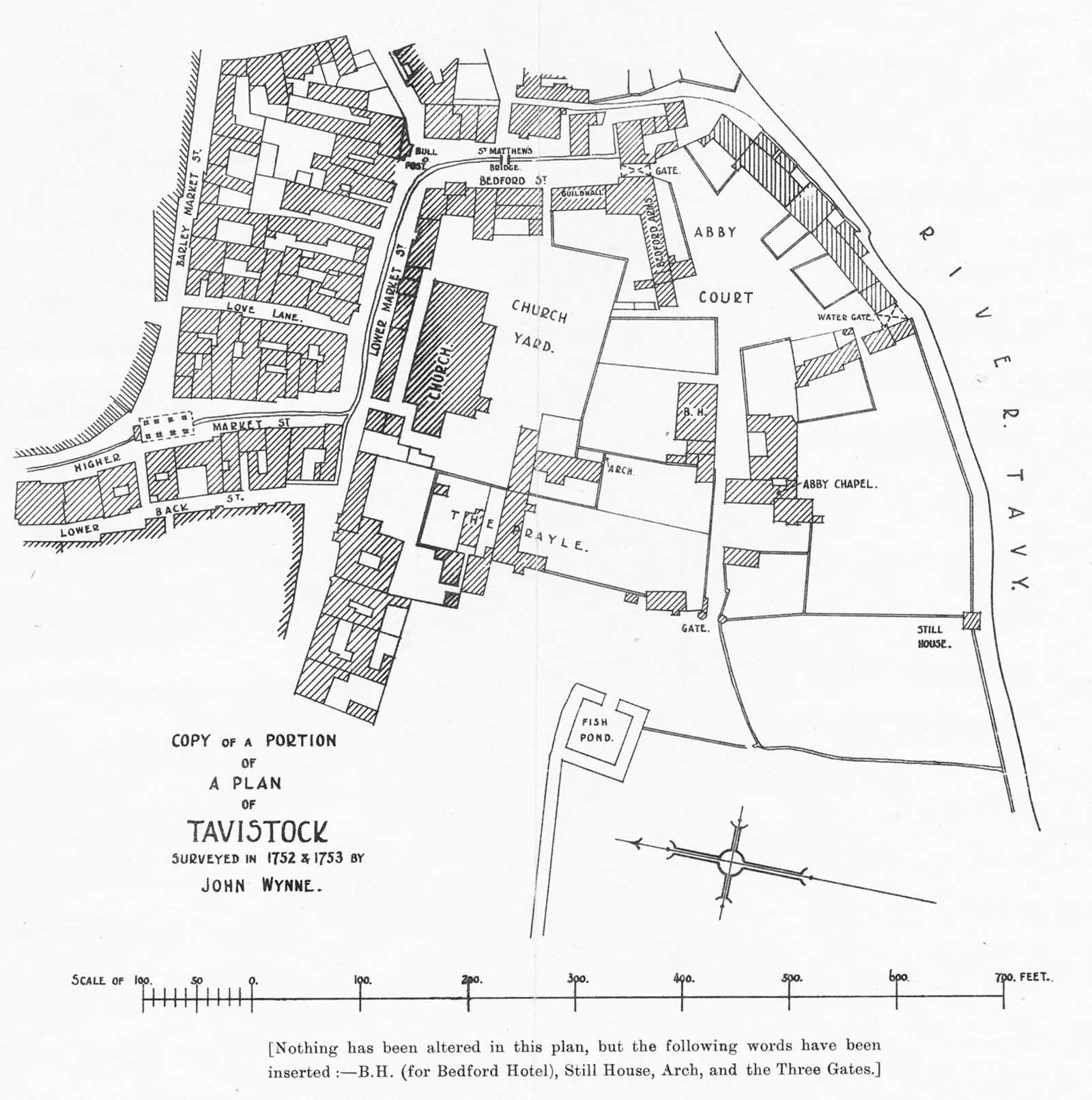 Abbey Map Tavistock